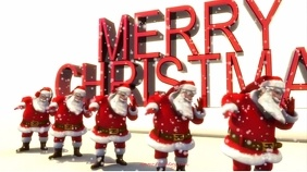 DANCING SANTA. CHRISTMAS VIDEO Digitalt display (16:9) template