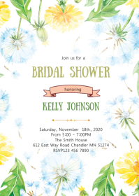 Dandelions bridal shower party invitation