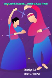Dandiya event Poster template