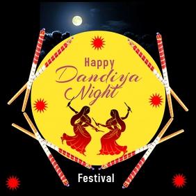 Dandiya festival 6 Publicación de Instagram template