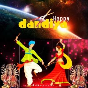 Dandiya festival Carré (1:1) template