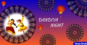 Dandiya Night Reklama na Facebooka template