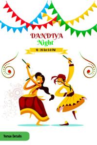 Dandiya Night Plakat template