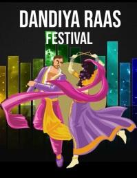 Dandiya Raas Pamflet (VSA Brief) template