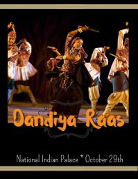 Dandiya Raas exhibition Flyer (US Letter) template