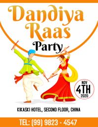 Dandiya Raas Template Pamflet (Letter AS)