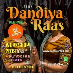 Dandiya Raas Workshop Template Сообщение Instagram