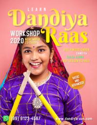 Dandiya Raas Workshop Template Flyer (US Letter)