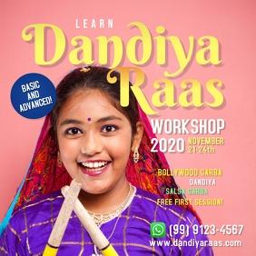 Dandiya Raas Workshop Template Instagram Post
