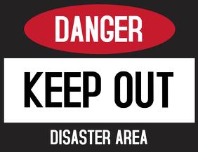 Danger Keep Out Door Sign