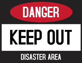 Danger Keep Out Door Sign