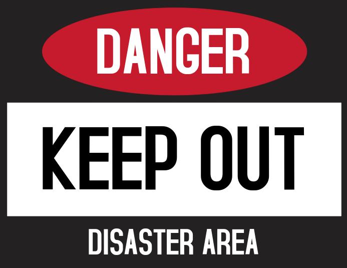 Danger Keep Out Door Sign Template PosterMyWall