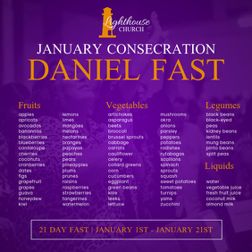 Daniel Fast Flyer Instagram Post template