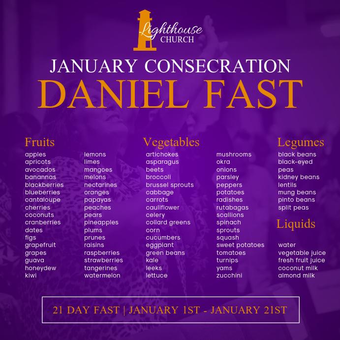 Daniel Fast Flyer