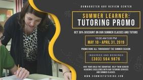 Dark Background Tuition Center Advert Banner