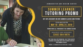 Dark Background Tuition Center Advert Banner