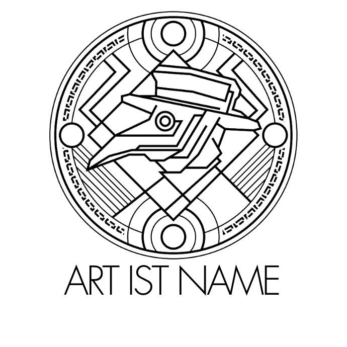 Dark Bird Mask Logo Template