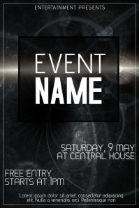 dark black event flyer template