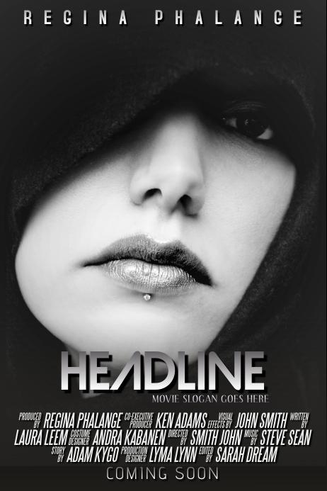 Dark Black Movie Film Theatre Poster Flyer Template