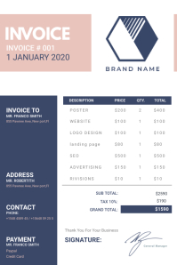 Dark Blue Corporate Invoice