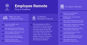 Dark Blue Employee Remote Work Guidelines Facebook Shared Image template