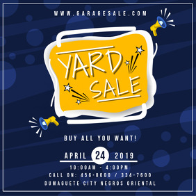 Dark Blue Garage Sale Advertisement
