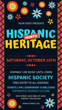 Dark Blue Hispanic Heritage month signage