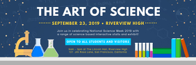 Dark Blue Science Fair Banner