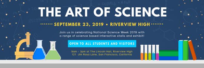 Dark Blue Science Fair Banner