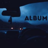 Dark Car Interior Album Song Cover Art template