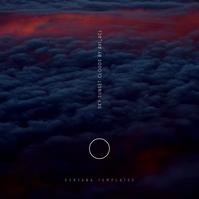 Dark Clouds Sky Sunset Music CD Cover Design template