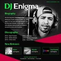 Dark DJ Bio Press Kit Instagram Template