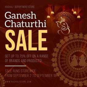 Dark Ganesh Chaturthi Sale Instagram Post template