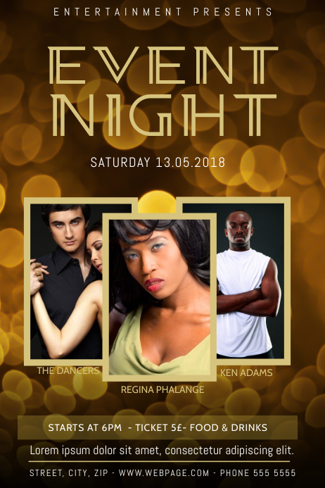 Dark Gold Event Flyer Template Multipurpose images