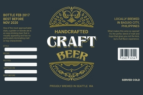 Dark Green Beer Label Template