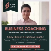Dark green business coaching online course ad Instagram Post template