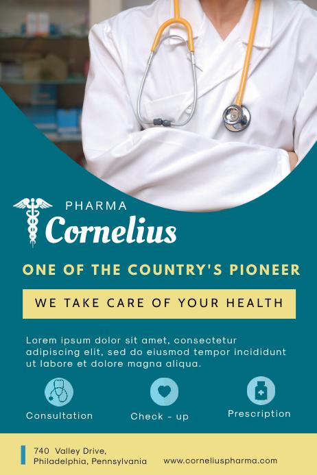 Dark Green Pharmacy Advertisement Flyer Template Плакат