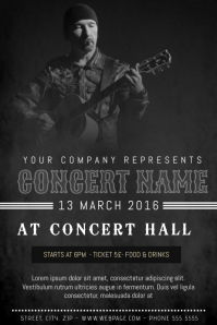 dark grunge old indie rock style poster concert template