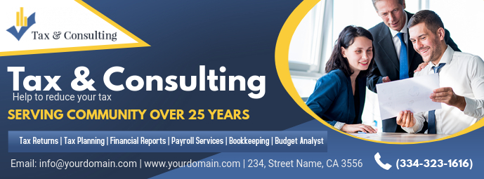 Dark Income Tax Services Advert Banner