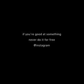 Dark Instagram Quote template