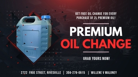 Dark Red Oil Change Digital Display Ad
