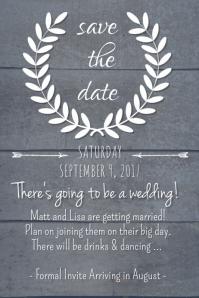 Dark Rustic Save the Date