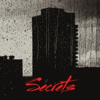 Dark Secrets Black Bulding Song Cover Art Sampul Album template