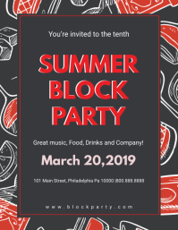 Dark Summer Block Party Flyer Iflaya (Incwadi ye-US) template