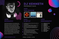 Dark Theme DJ Press Kit Poster Template Плакат