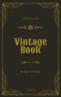 dark Vintage book cover template