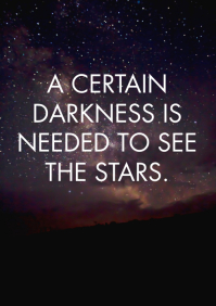 DARKNESS AND STARS QUOTE TEMPLATE A1