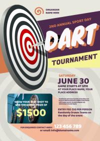 Dart Tournament Flyer A4 template