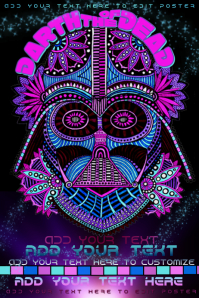 Darth Vader Dia De Los Muertos Day of the Dead Paisley Event