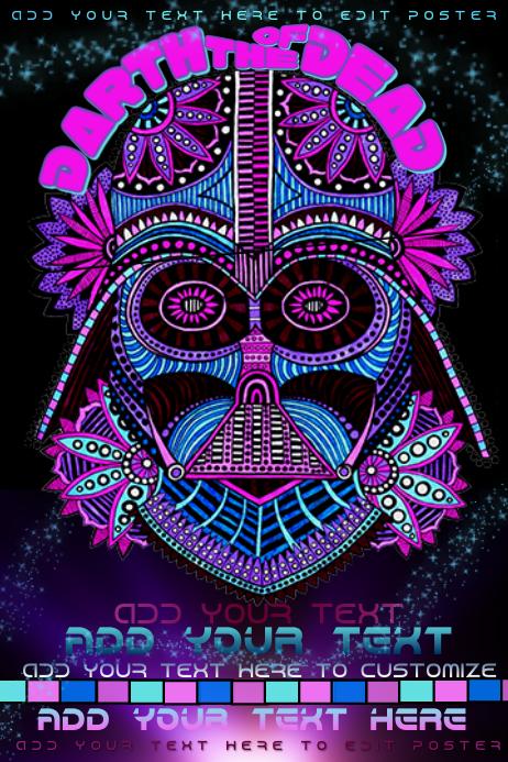 Darth Vader Dia De Los Muertos Day of the Dead Paisley Event